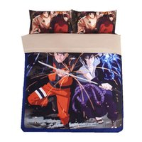 Japan Naruto Anime Bettwäsche-sets Twin Königin Voll King Size Cartoon Bettdecke / Bettbezug 3/4 stück Bettdecke Jungen Babys Kinder Kissenbezüge