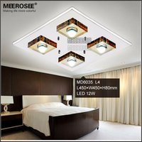 Wholesale Led Hallway Lighting For Office - Modern LED Ceiling Light Fixture Glass LED Ceiling Lamp for Hallway Corridor Fast Shipping MD6035