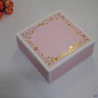 Wholesale Cardboard Package Cake - 20pcs pack: 11.8x11.8x5cm Pink lace gift box cupcake cookie cake box packaging kraft cardboard boxes for cakes paper box