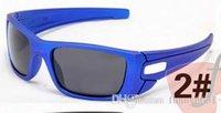 gafas de sol azul al por mayor-Verano nueva moda hombre azul deporte gafas de sol gafas mujeres bicicleta gafas Ciclismo Deportes exterior gafas de sol 8 colores envío gratis