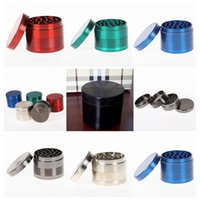 2016 Hot-sale Alloy Herb Tobacco 4 Part Grinder SharpStone Grinders 5 cores Grinder Crusher Máquina de cigarro Magnet Filter 6018S