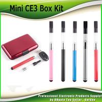 Wholesale E Cigarette Mini Battery - Mini CE3 Box Starter Kits 280mAh Battery Oil Bud Touch Vaporizer atomizer O Pen Vape E cigarette Kit DHL Free 0209617