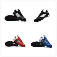 Wholesale Indoor Soccer Teams - Original Mens Mundial Soccer Shoes TF Turf Indoor Mundial Team Astro Football Boots Copa Mundial Low Soccer Cleats Black White
