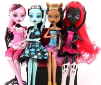Wholesale 11 Inch Baby Figure - New monster high Baby Girls Action Figures toys cartoon 28cm monster high dolls children toys 11 inches free shipping