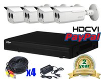 Wholesale Dahua Dvr 4ch - Dahua 4Ch 2MP HD 1080P HDMI CVI DVR system Kit with 4 x 1080P infrared Security HDCVI Cameras IP67 System Package