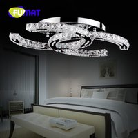 Wholesale lamp modern remote control - FUMAT Latest Fashion style modern stainless steel LED ceiling light fashion brief living room ceiling lights LED crystal lamp