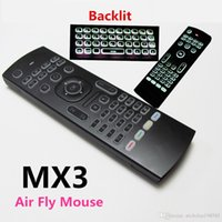 Air Fly Mouse MX3 retroilluminato tastiera senza fili 2.4GHz telecomando IR Learning Motion Sensing Gamer Control per la TV Android Box Smart Keyboard