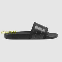 2017 black white mens Individualité all-matching fashion striped slide sandals garçons outdoor causal beach flip flops