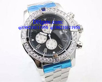 Wholesale Chronometer Quartz - Luxury watches Free box Quartz Chronometer Men's Wristwatch Analog Stainless SteelBelt Platinum Skeleton Watch With Calendar Male Watch