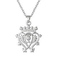Wholesale Crown Shaped Necklace - Special royal Design crown Shape olive branch abstract A pair of tennis rackets Pendant Rhodium Plated Necklaces Jewelry For Tennis lovers