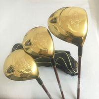 Wholesale Golf Free Shipping Fairway Wood - New Golf clubs man Majesty Prestigio 9 driver 3 5 fairway wood graphite Golf shaft R S flex Golf wood set free shipping