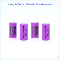 Wholesale Rechargeable Cr123a - Wholesale Factory supplier CR123A 16340 1200mAh 3.7V Rechargeable Li-ion Battery Camera Torch Flashlight 3v lithium Battery
