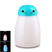 atomiseurs rohs achat en gros de-Anion USB Humidificateur Mist Maker avec LED Lumière Mini Humidificateurs Aroma Diffuseur Air Conditionné Atomiseur Fogger Home Appliances