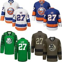 Wholesale New Full Size Black Jersey - Hot Sale Mens New York Islanders 27 Anders Lee Best Quality Cheap 100% Embroidery Logos Ice Hockey Jerseys Accept Mix Order Size S-3XL