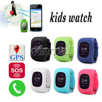 Wholesale Sos Devices - Best OLED Q50 Kids GPS Tracker Anti Lost Smart Watch Children SOS SIM Call GSM-Phone Location Finder Device