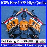 Wholesale Orange Honda F3 - Bodys Motorcycle For HONDA CBR600RR F3 CBR600FS Repsol orange CBR 600 F3 97 98 48MY6 CBR 600F3 FS CBR600F3 CBR600 F3 1997 1998 Fairing kit