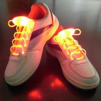 luz acima laços de sapato led venda por atacado-Laços LED Shoe Laces Flash Light Up Brilho Vara Strap Shoelaces Discoteca Festa de Patinação Esportes Brilho Vara DHL livre USZ063