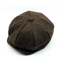 Wholesale Wool Knitted Beret - 2016 autumn and winter new wool hat male winter plus velvet labeling alphabet knitting cap