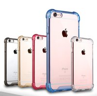 Wholesale Transparent Bag Material - Transparent Air Cushion Shockproof Design PC and TPU Material Mobile Air Bag Anti-knock Cases Crystal Clear Silicone For Iphone 7 7Plus