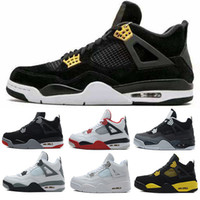 Wholesale Cheap Military Shoes - Cheap 4 4s men Basketball Shoes Royalty Pure Money White Cement Bred Alternate Motorsport Military Blue Fire Red Oreo Premium black Sneaker