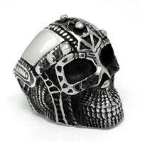 black male modeling - Punk Rings for Men Iron Man Modeling Ghost Head Shape Fashion Jewelry Titanium Steel Trendy Hyperbole Rock Personality Male Ring SA458