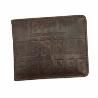 Wholesale 2017 Wallet Bad Mother F cker Leather Wallets Purse Cool Purse for Gift Unisex
