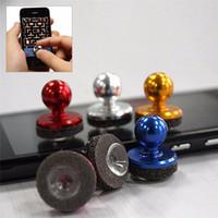 cep telefonu ekran boyutları toptan satış-Küçük Boyutlu Çubuk Oyun Joystick Joypad Için iPhone için Pad Dokunmatik Ekran Cep telefonu Mini Rocker