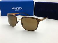 Wholesale Hunter Outdoor Lighting - 2017 New MYKITA HUNTER Sunglasses Pilot Frame with Mirror Ultra Light Frame Memory Alloy Sunglasses Summer Style Cool Outdoor Design