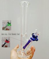 """Wholesale 5mm Tube - Straight Tube 10""""glass bong 5MM thick pyrex glass water pipes oil rig with 14.4mm bowl Straight Tube smoking pipe"""