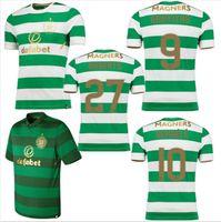 Wholesale Olive S - Scotland Celtic Home jerseys DEMBELE GRIFFITHS LUSTIG SINCLAIR BITTON BROWN 20172018 olive jersey new Celtic Away jersey