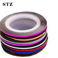 Wholesale Tape Strips For Nails - 1pcs NEW Metallic Nail Art Tape Lace Line Strips Striping Decoration For UV Gel Polish Nail Art Self-Adhesive Decal Tools NS10