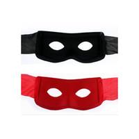 yetişkinler için siyah yarı maskeler toptan satış-Masquerade Haydut Zorro Siyah Maskeli Adam Göz Maskesi Venedik Yetişkin Süper Kahraman Yeni yarım yüz maskesi