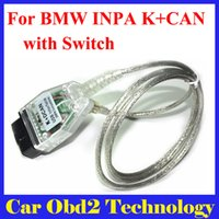 Wholesale Dcan Bmw Diagnostic Scanner - 2016 New For BMW INPA K+DCAN USB Interface OBD CAN Reader Diagnostic scanner Switched INPA DIS SSS NCS Coding free Shipping