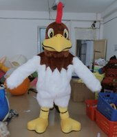 Wholesale plush costumes for adults - MC150611 Good vision and good Ventilation rooster plush mascot costume suit for adult to wear for sale