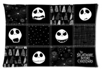 Vente en gros - Rectangle Zippered Classic Fashion Custom The Nightmare Before Christmas Oreiller Cover 2 cided Prints Cushion Pillow Case # P0223