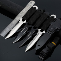 Wholesale Tactical Dive Knives - Leggings Paratroopers Knives Stainless Steel Diving Fixed Blade Knife Outdoor Survival Camping Pocket Knife Tactical Knife 3004027