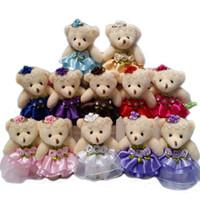 mini bebek video toptan satış-Toptan 10 Adet / grup 12 CM güzel kızlar için peluş oyuncak bebek stuffplush mini buketleri ayı oyuncak promosyon hediye