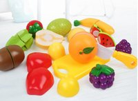 Wholesale Children who cut fruit for a long time watch the boys and girls kitchen toy suits