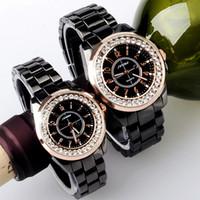 Wholesale Bronze Bling - gift New SINOBI Bling Diamond Rhinestone Luxury Ceramic-White Style Ladies Dress Watch Women Fashion Wristwatch Relogio Feminino Gift