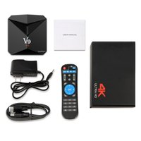Wholesale 2gb Android Hd Player - Android 7.1 Amlogic S912 TV Boxe V9 2GB 3GB 8GB 32GB Octa core Dual WIFI KD17.3 Krypton Streaming Media Player