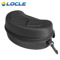 Wholesale Motocycle Glasses - Wholesale- LOCLE Ski Goggle Glasses Protector Box Motocycle Glasses Case EVA Zipper Hard Case Box