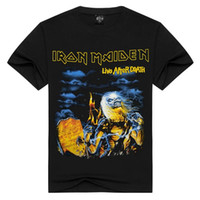 Wholesale Type Tops For Women - Rock Musci T Shirt Iron Maiden Camiseta Masculino Dead Motor Rider T-shirt Cotton for Men and Women Unisex Type Hip Top Tees