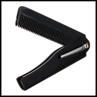 Wholesale Hair Styling Tools For Men - Wholesale- New Style 1pcs Hair Beauty Folding Moustache & Beard Comb Hand Made Tools For Men Women