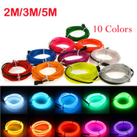 3M Neon Light Dance Party Neon LED Lampada Luce Flessibile EL Tubo Corda Tubo Impermeabile LED Neon Segno Strip