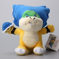 "Wholesale Ludwig Blue - Wholesale- Super Mario Ludwig WIth Blue Turtle Shell Koopa Cute Koopalings Plush Toys Soft Dolls 8"" 20 CM"