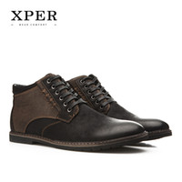 Wholesale Laced Suede High Heel Boots - XPER Brand Autumn Winter Men Shoes Boots Casual Fashion High-Cut Lace-up Warm Hombre #YM86901BU