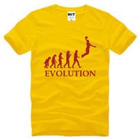 Wholesale Evolution Men - New Designer Evolution Basketball T shirts Men Cotton Short Sleeve Slam Dunk Printed Man Tops Tees Male Sport Fitness Shirt