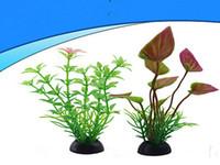 Wholesale Plant Processes - Process 10pcs lot aquarium aquarium landscaping plant artificial aquatic plants decorative plastic flowers small ornaments aquarium flower d
