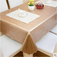 Square square table cloth vinyl - 2017 New Arrival PVC Waterproof Table Cloth PU Home Textile Wipe Clean PVC Vinyl Tablecloth Dining Kitchen Table Cover Protector