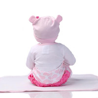 Wholesale Handmade Collectible Dolls - 22 Inch Handmade Lifelike Baby Boy Girl Doll Silicone Vinyl Reborn Newborn Dolls Realistic Baby Puzzle Recycling Doll Toy